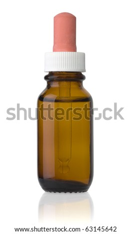 Isolated dropper bottle - stock photo