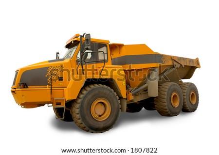 Isolated dump truck - stock photo