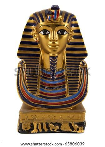 Isolated Egyptian pharaoh miniature - stock photo