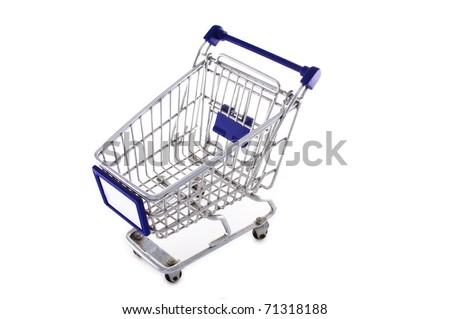 Isolated empty shopping cart