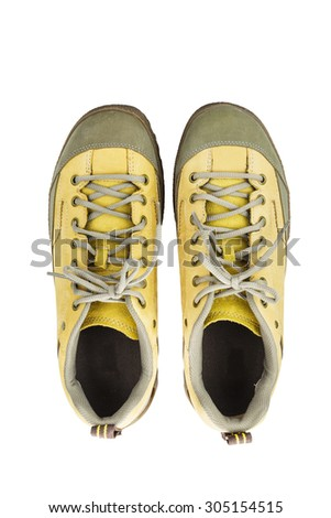 Isolated Engineering boot on white with clipping path - stock photo