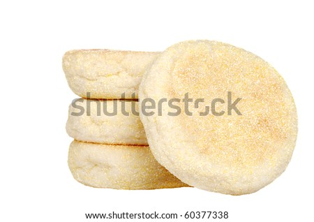 isolated English muffins