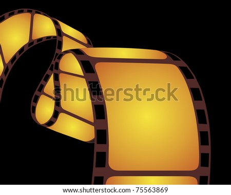 Isolated film strip. - stock photo