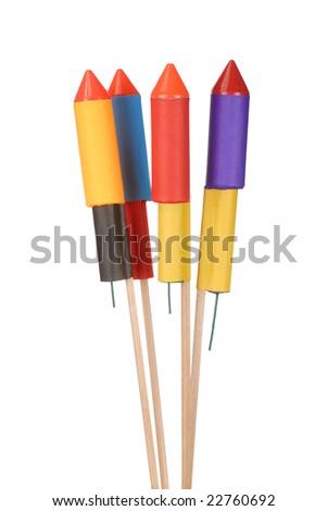 Isolated fireworks - stock photo