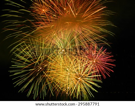 Isolated Fireworks in Venice - Italy - stock photo