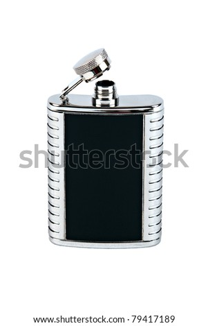 Isolated Flask on a White Background