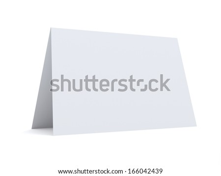 Isolated Folded Paper - stock photo
