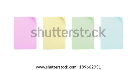 Isolated four of paper note