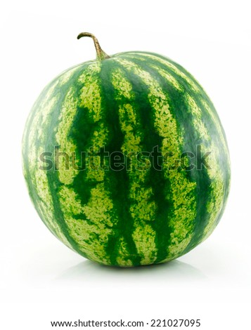 Isolated fresh watermelon on a white background. - stock photo
