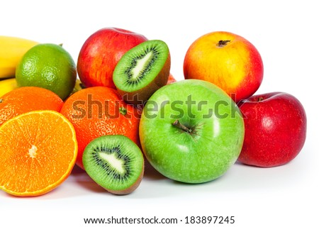 isolated fruit on a white background