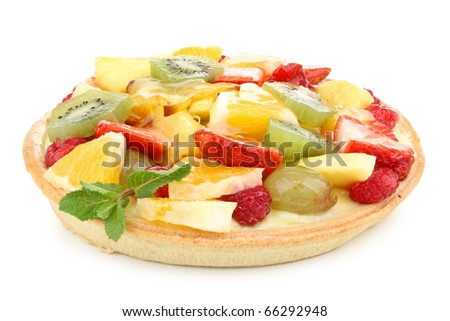 isolated fruit tart