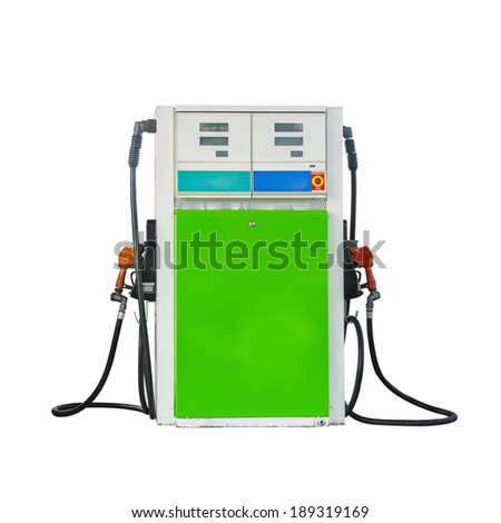 Isolated gas pumper supply on white background - stock photo