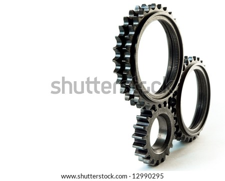 isolated gears - stock photo