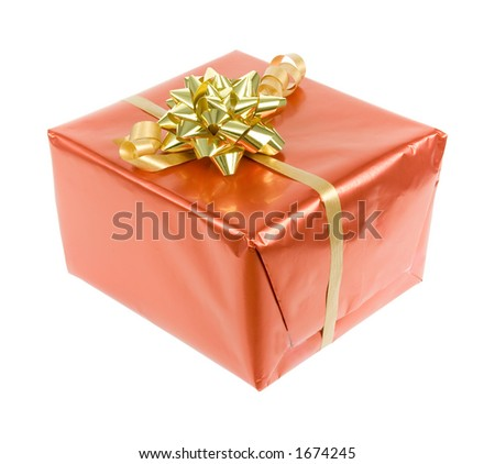 isolated gift