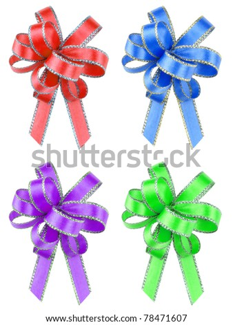 Isolated gift ribbons