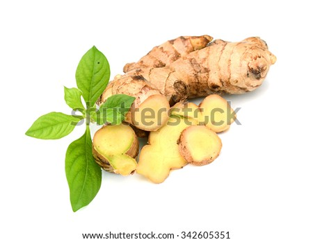Isolated ginger. Element of design. - stock photo