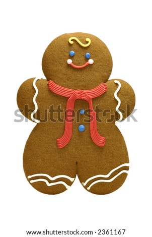 Isolated Gingerbread Cookie - Holiday Related Object