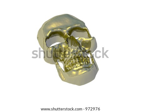 Isolated gold skull