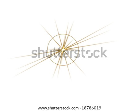 Isolated Gold Starburst - stock photo