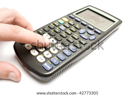 isolated graphic calculator in a white background