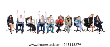 Isolated Group Business People  - stock photo