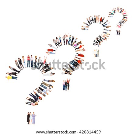 Isolated Groups Business Picture  - stock photo
