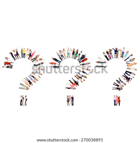 Isolated Groups People Diversity  - stock photo