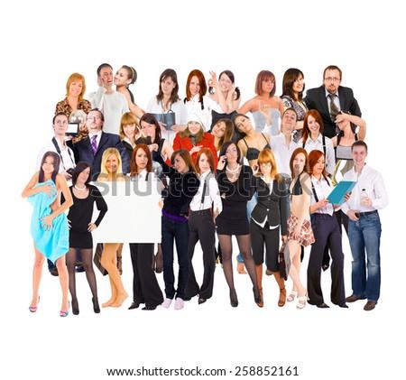 Isolated Groups Teamwork Achievement  - stock photo