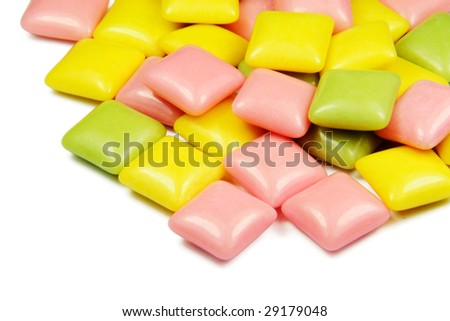 isolated gums - stock photo