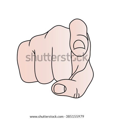 Isolated Hand and Finger Pointing