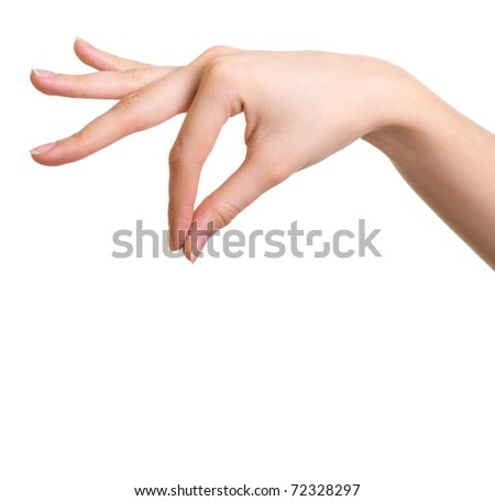 Isolated hand holding object