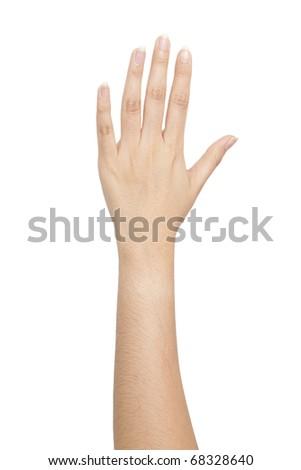 Isolated: Hand make a heart shape - stock photo