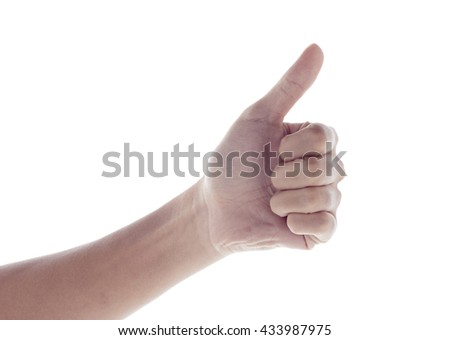 isolated  hand touching or pointing to something