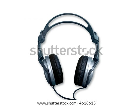 Isolated headphone on a white background