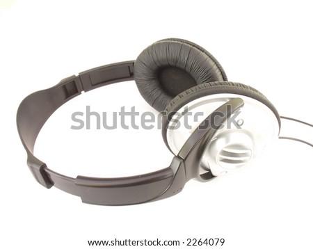 Isolated Headphones - stock photo