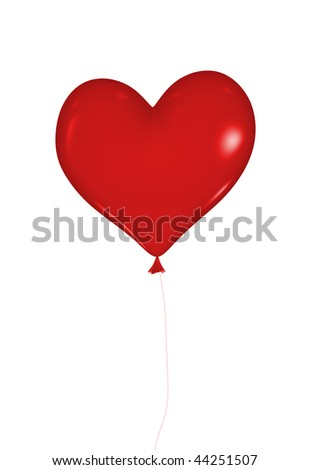 isolated heart balloon on white background