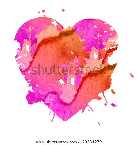 isolated heart made of blots - stock photo