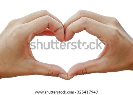isolated heart-shape hands