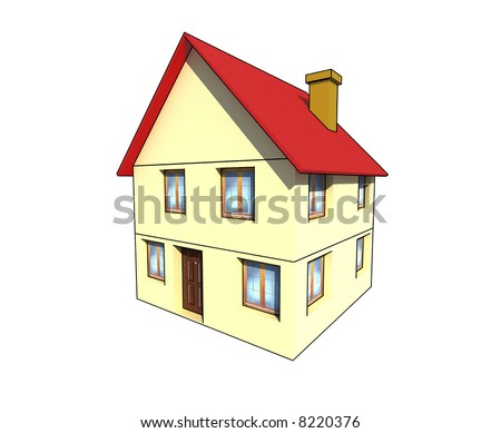 isolated house - 3d illustration