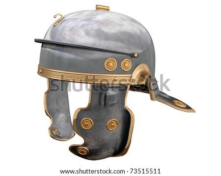 Isolated illustration of a First Century Roman Helmet - stock photo