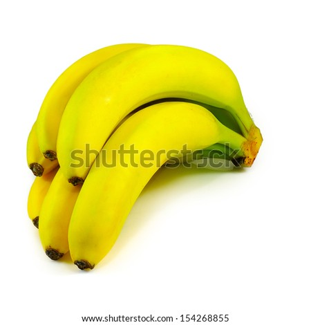 Isolated image of a banana on white background