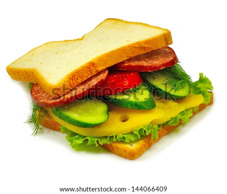 Isolated image of a burger on a white background