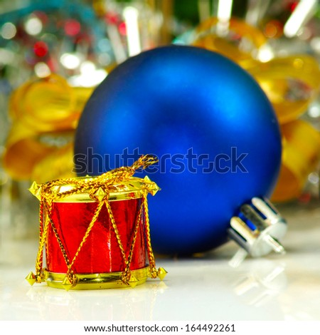 Isolated image of a Christmas toy on a white background - stock photo