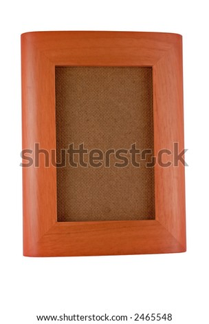 isolated image of a curved, wood grain picture frame