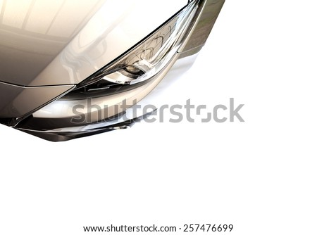 isolated image of a modern car on white background - stock photo