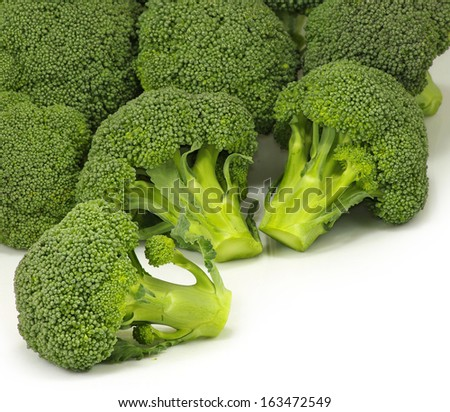 Isolated image of a ripe broccoli on a white background