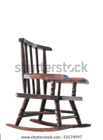 Isolated image of a rocking chair against a white background