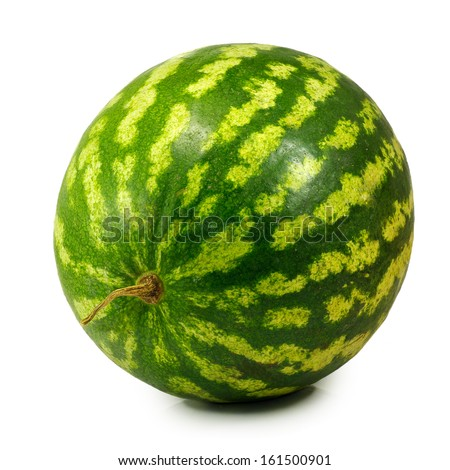 Isolated image of a watermelon on a white background