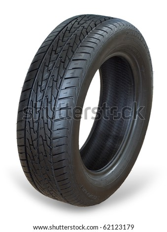 Isolated image of an all weather radial tire - stock photo