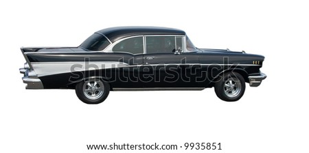 isolated image of an American Classic Car